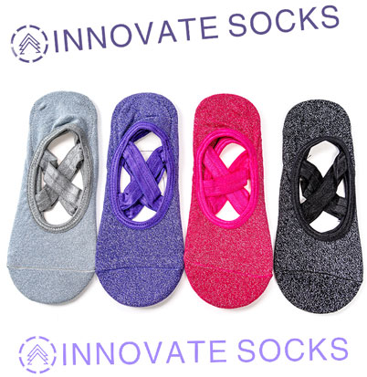 Yoga Socks With Grips & Straps<!--[